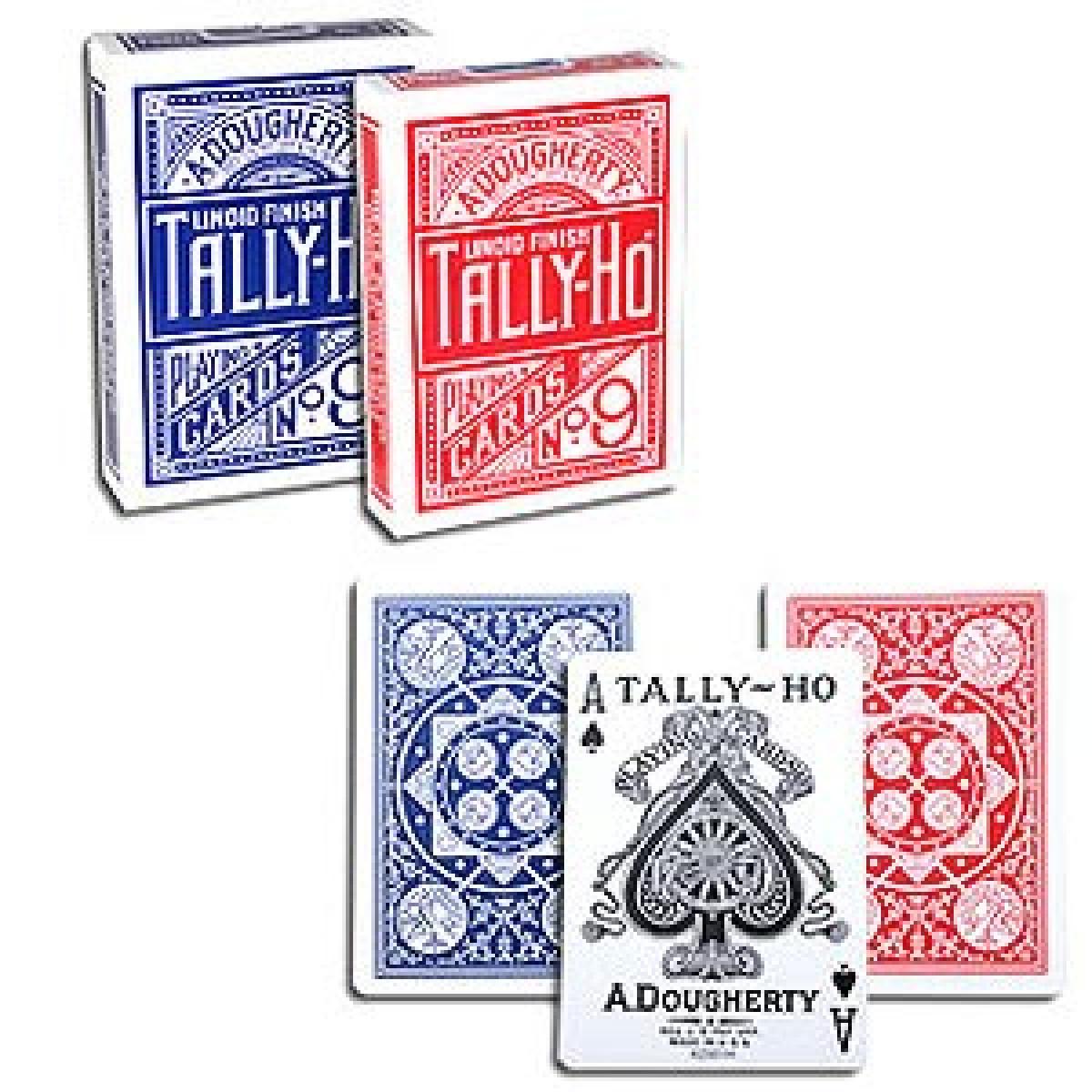 3 Blu-3 Rosso 6 mazzi Carte Tally-Ho Fan Back