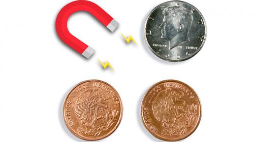 Scotch & Soda (Mezzo Dollaro e Peso Messicano) by Eagle Coins - MAGNETIC Version