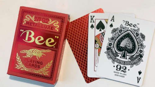 Bee Red MetalLuxe Playing Cards By US Playing Card