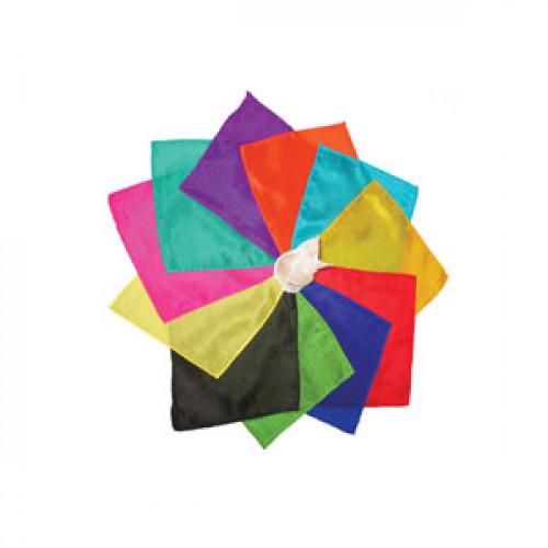 Foulard cm 45 x 45 - Set di 12 colori assortiti