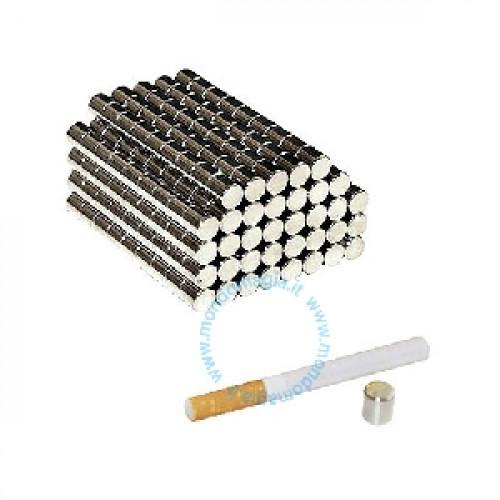 Magnete al Neodimio - Cilindro mm 10 x 10 (prezzo per confez. da 50 pezzi)