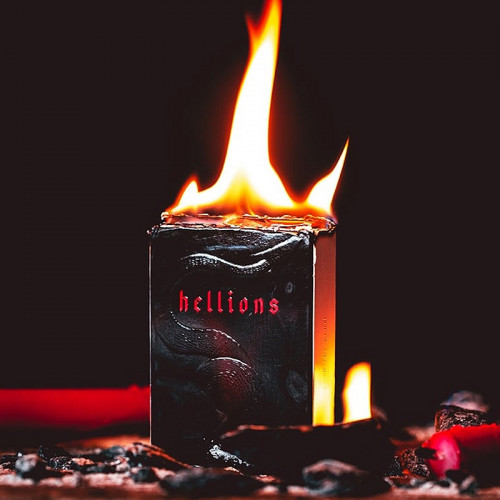 Red Hellions Playing Cards - Black Tuck