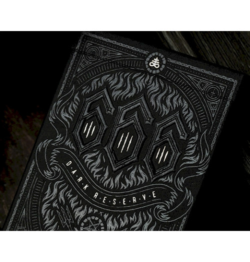 666 Playing Cards SILVER FOIL by Riffle Shuffle